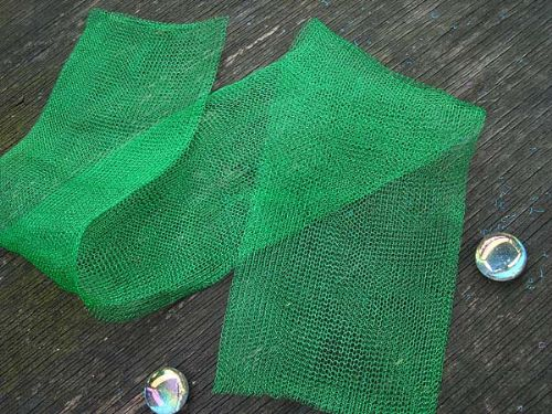 "12 "" of Emerald Green Knitted Wire"